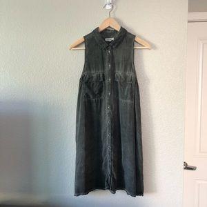 Kimchi&Blue Stonewashed Grey Sleeveless Mini Dress
